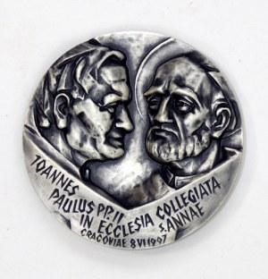 [MEDAL 3]. Joannes Paulus pp. II in ecclesia collegiata s. Annae. Cracoviae 8 VI 1997 /...