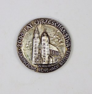[MEDAL 4]. Pamiątka wizyty Jana Pawła II w bazylice mariackiej, Kraków 16. VI. 1999 /...