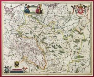 [POLSKA]. Polonia Regnum, et Silesia Ducatus. Miedzioryt kolorowany form. 41,2x50,5 cm....