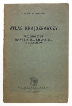 [POLSKAPD.]. Atlas krajoznawczy województwa krakowskiego, kieleckiego i śląskiego. Lwów-Warszawa1931. Książnica-...
