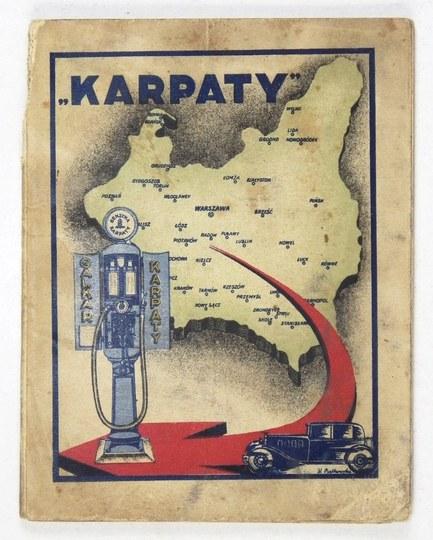 [POLSKA]. Mapa automobilowa Polski 1:2.000.000 wraz z wykazem stacji benzynowych według stanu z dnia 1....