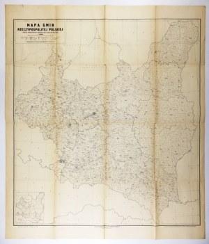 [POLSKA]. Mapa gmin Rzeczypospolitej Polskiej. Podział administracyjny według stanu z dnia 1. IV 1938 roku....