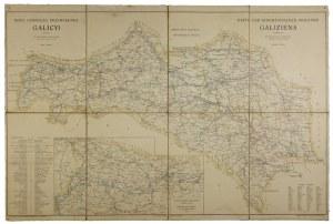 [GALICJA]. Mapa górniczo przemysłowa Galicyi. Mapa form. 61,4x95,6 cm. Ok. 1910.