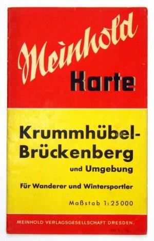 [KARKONOSZE]. Umgebung von Krummhübel [= Karpacz]. Mapa barwna form. 36,4x38 cm. 1940.