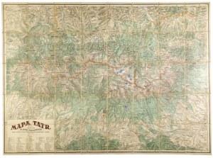 [TATRY]. Mapa Tatr. Mapa barwna form. 81,4x111 cm. 1923.