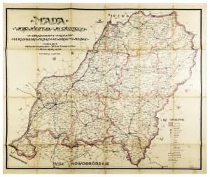 [WILEŃSZCZYZNA]. Mapa województwa wileńskiego. Mapa barwna form. 73x88,5 cm. 1928.