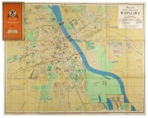 [WARSZAWA]. Plan miasta stołecznego Warszawy. Plan barwny form. 61,2x78 cm. Ok. 1936.
