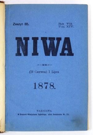 NIWA. Dwutygodnik poświęcony sprawom społecznym, naukowym i literackim. R. 7, t. 14: 1 VII 1878-...