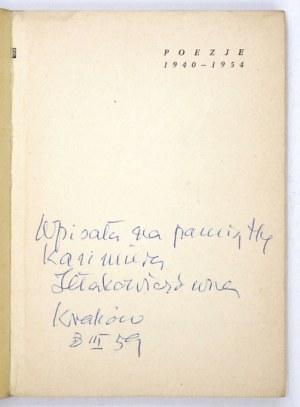 IŁŁAKOWICZÓWNAK. – Poezje 1940-1954. Warszawa 1954. Z dedykacją autorki.