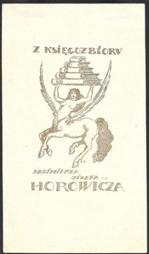 [SŁONIMSKI Antoni].Ekslibris Antoniego Słonimskiego dla Kazimierza Józefa Horowicza. [przed 1920].