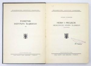GUMOWSKI Marian - Herby i pieczęcie miejscowości wojew. śląskiego. Z 438 ryc. Katowice 1939. Wydawnictwa Instytutu Śląsk...