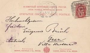 karta pocztowa POMNIK ADAM MICKIEWICZA W WARSZAWIE, 1899.