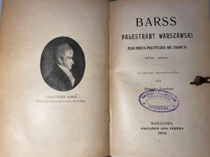 KRAUSHAR ALEXANDER - BARSS PALESTRANT WARSZAWSKI.