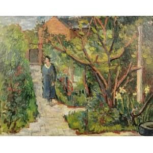 Leonard PĘKALSKI (1896-1944), Kobieta w ogrodzie, lata 30. XX w.
