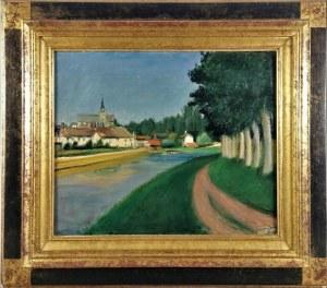 Henryk HAYDEN (1883-1970), Pejzaż z rzeką