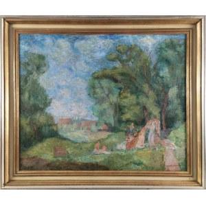 Eugeniusz GEPPERT (1890-1979), Śniadanie na trawie