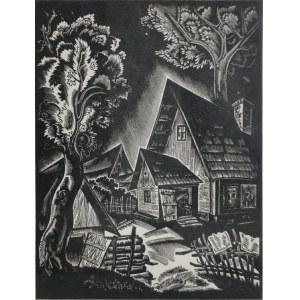 Stanisław OSTOJA-CHROSTOWSKI (1897-1947), Podwórze, 1932
