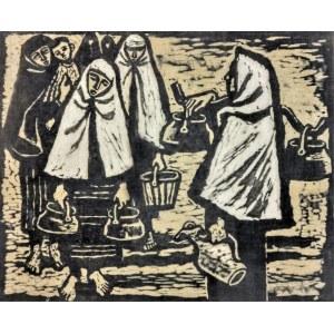 Maria HISZPAŃSKA-NEUMANN (1917-1980), Po wodę [z cyklu: Z Bułgarii], 1955