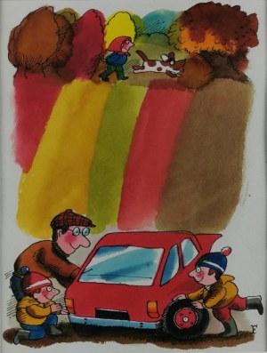 Jerzy FLISAK (1930-2008), Weekend, lata 80. XX w.