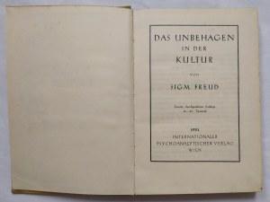 Freud Zygmunt • Das Unbehagen in der Kultur [wydanie 2.]