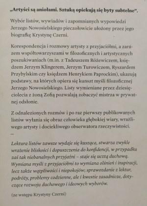 Nowosielski Jerzy • Listy i zapomniane wywiady
