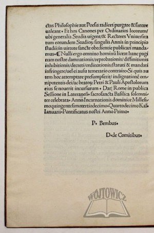 (LEON X Jan Medyceusz), Bulla seu cedula in materia fidei: edita per S. dńm. nostrű dńm. Leonem X Pont. Max. sacro approbante Concilio,
