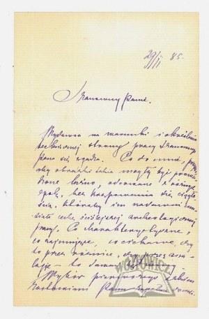 KONOPNICKA Maria (1842 - 1910), polska poetka i pisarka.,