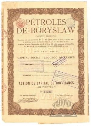 (AKCJA). (BORYSŁAW). Petroles de Boryslaw.