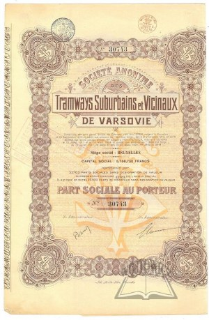 (AKCJA). TRAMWAYS Suburbains et Vicinaux de Varsovie.
