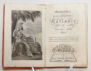 GOTHAISCHER genealogischer Kalender auf das Jahr 1817.