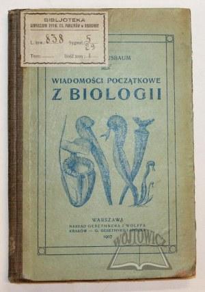 NUSBAUM Józef, Wiadomości początkowe z biologii.