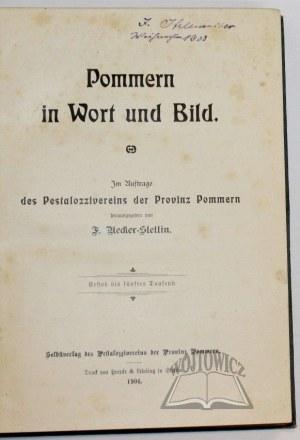 UECKER - Stettin Fritz, Pommern in Wort und Bild.