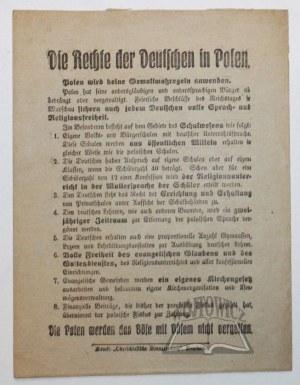 DIE RECHTE der Deutschen in Polen.