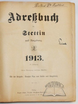 (SZCZECIN. Książka adresowa). Adreßbuch für Stettin und Umgebung.