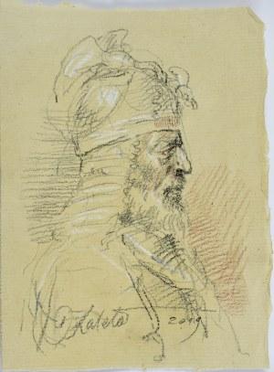 Dariusz Kaleta Dariuss (Ur. 1960), Popiersie rycerza ujęte z prawego profilu, 2019