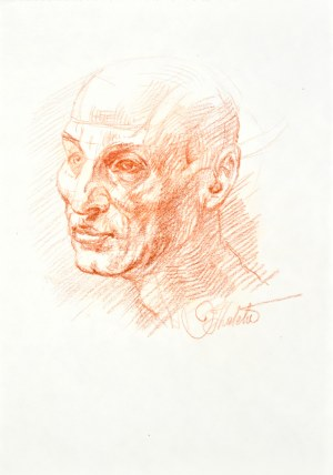 Dariusz Kaleta Dariuss (Ur. 1960), Szkic głowy mężczyzny