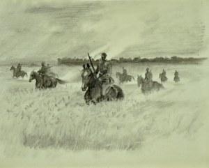 Ludwik Maciąg (1920-2007), Ułani na koniach w łanach zbóż