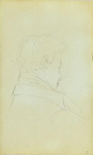 Jacek Malczewski (1854-1929), Szkic głowy młodego mężczyzny ujęta z tyłu
