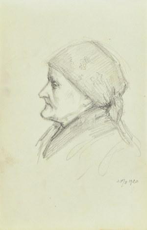 Józef Pieniążek (1888-1953), Studium portretowe wiejskiej kobiety