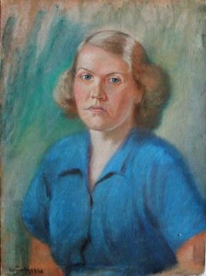 Władysław Serafin (1905-1988), Portret żony artysty Zofii, 1948