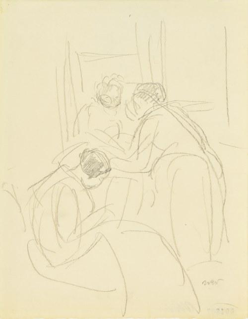 Wojciech Weiss (1875-1950), Kobiety we wnętrzu, 1928
