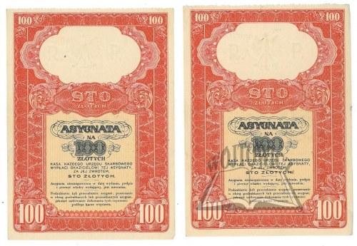 (AKCJE). Asygnata na 100 złotych.