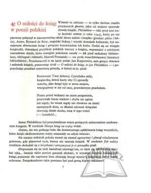 JAKUBOWSKI Jan Zygmunt, Wiersze o książkach.