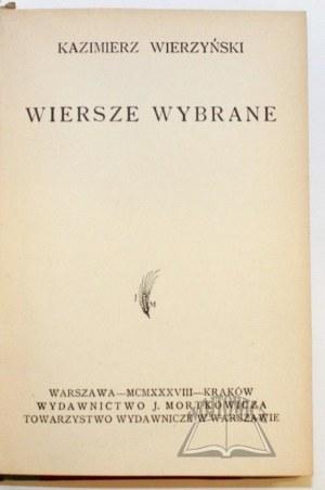 WIERZYŃSKI Kazimierz, Wiersze wybrane.