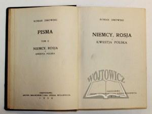 DMOWSKI Roman, Pisma.