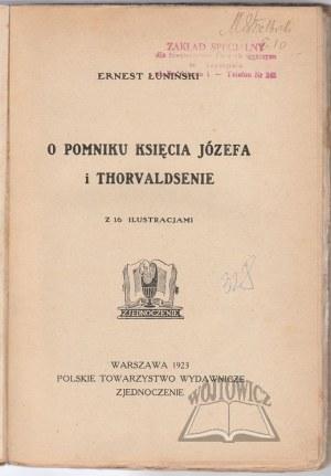 ŁUNIŃSKI Ernest, O pomniku księcia Józefa i Thorvaldsenie.