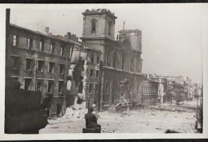 Warszawa 1944 Powstanie Warszawskie Kościół Św. Krzyża Po Spaleniu Pomnik Kopernika 25. Viii Eugeniusz Haneman Fotografia [Vintage Print]