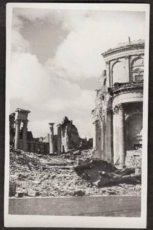 Warszawa 1944 Powstanie Warszawskie Kościół Św. Aleksandra Na Pl. Trzech Krzyży Eugeniusz Haneman Fotografia [Vintage Print]