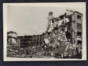 Warszawa 1944-45 Ul. Filtrowa Przy Ul. Raszyńskiego Eugeniusz Haneman Fotografia [Vintage Print]
