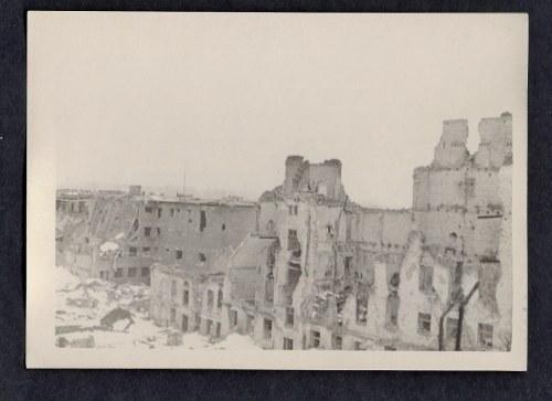 Warszawa 1944-45 Ul. Kościelna I Ul. Rybaki Eugeniusz Haneman Fotografia [Vintage Print]